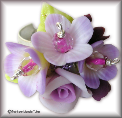 Tube fleur en porcelaine 2976