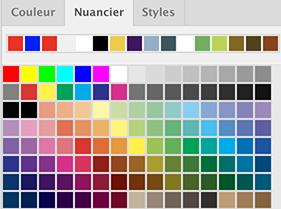Copier-coller, déplacement, choix de couleurs