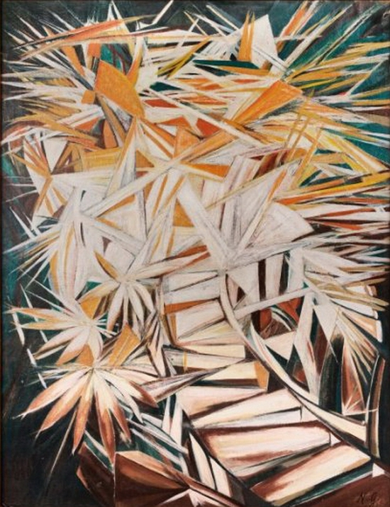 Natalia Gontcharova, Composition rayonniste, 1920-1930