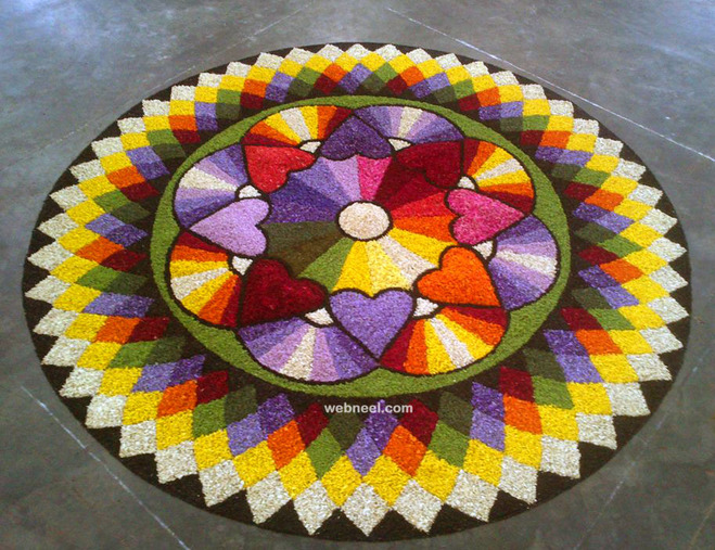 beautiful onam pookalam art