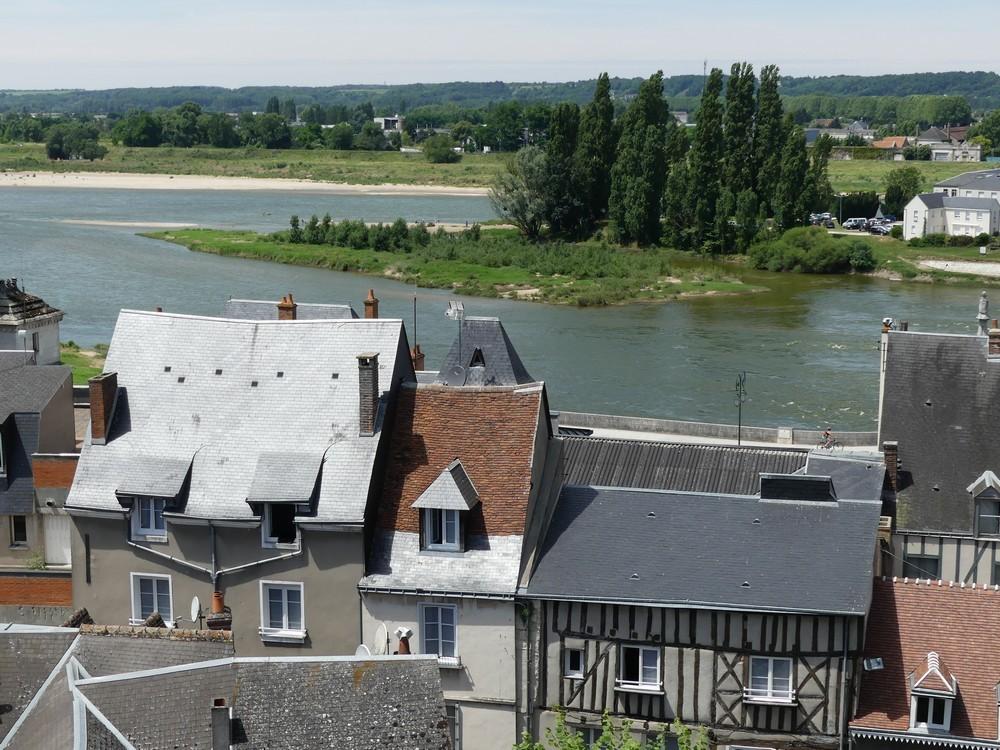 Du Château Royal d'Amboise : vue sur la ville et sur la Loire...