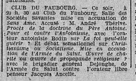 Le Populaire, 16 mai 1929