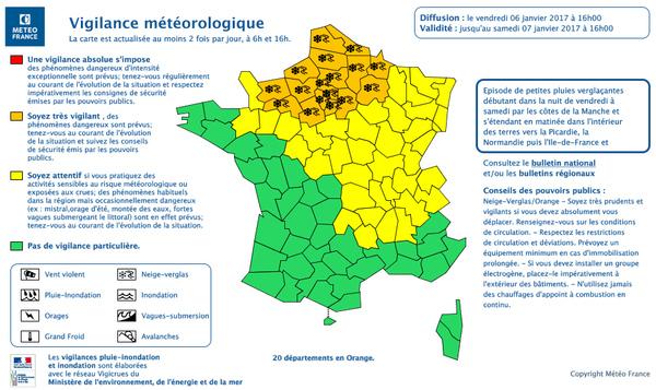 Alerte météorologique ORANGE – NEIGE-VERGLAS