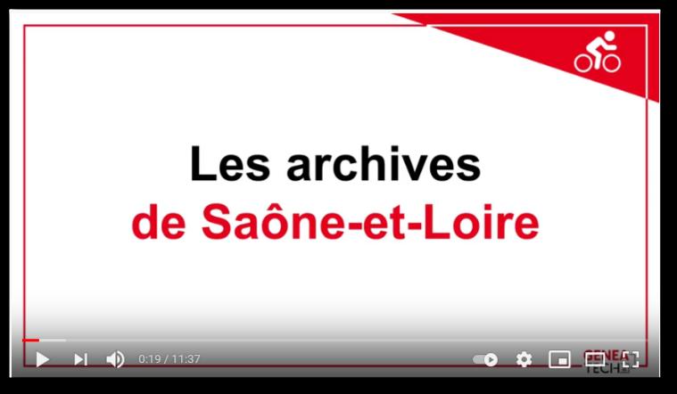 Présentation des Archives Départementales de Saône-et-Loire