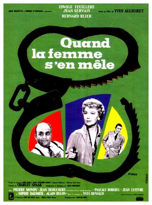 QUAND LA FEMME S'EMMELE - BOX OFFICE ALAIN DELON 1957