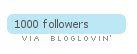 1000 followers...