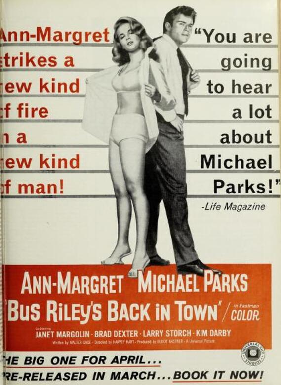 BUS RILEY'S BACK IN TOWN BOX OFFICE USA 1965