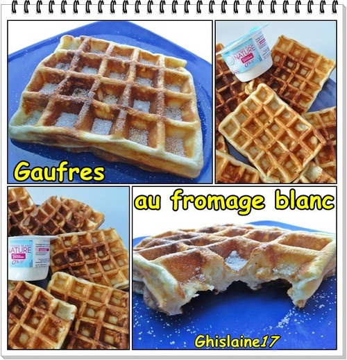 Gaufres au fromage blanc