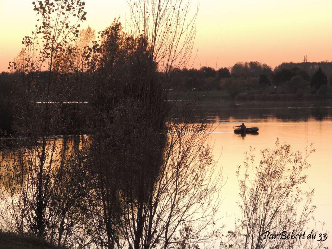 coucher de soleil à Saint Cyr (86)