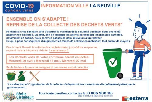 Reprise de la collecte des déchets verts sur La Neuville
