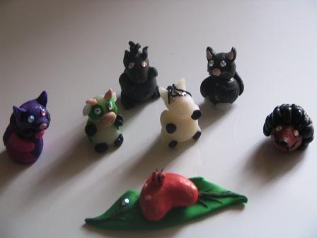 petites figurines a rajouter sur des objets