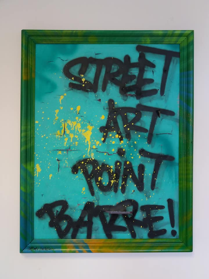 Street Art Point Barre. 80x60cm. 120€