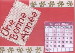 """Echange cartes """"calendrier"""" chez Amélie"""