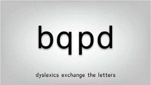 Les dyslectiques intervertissent les lettres