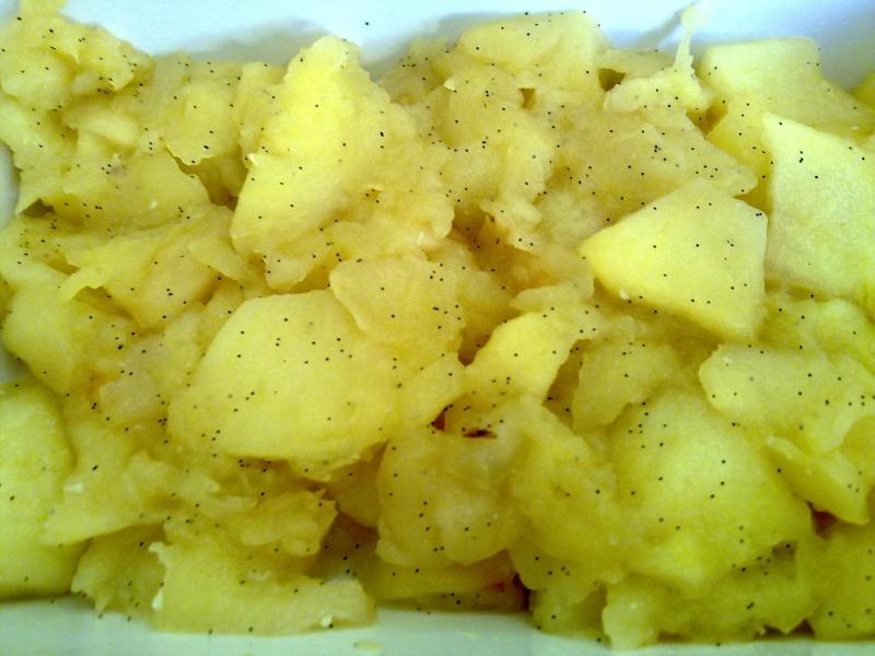 Crumble aux pommes vanillées
