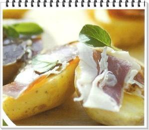 pommes de terre farcies au jambon espagnol