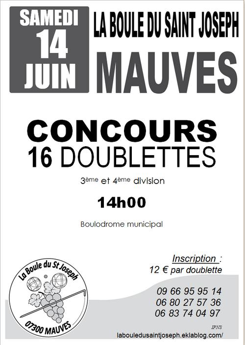 CONCOURS 14 JUIN