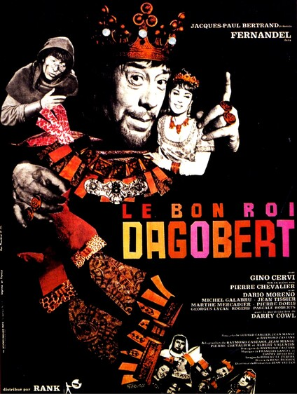LE BON ROI DAGOBERT -  FERNANDEL BOX OFFICE 1963