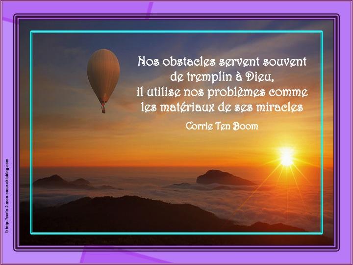 Nos obstacles servent souvent de tremplin à Dieu