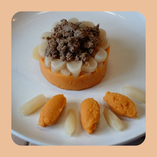 Hachis de boeuf et sa purée de patate douce muscadée