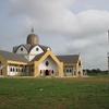 Bénin Egise de l\'Immaculée Conception et son clocher après Allada