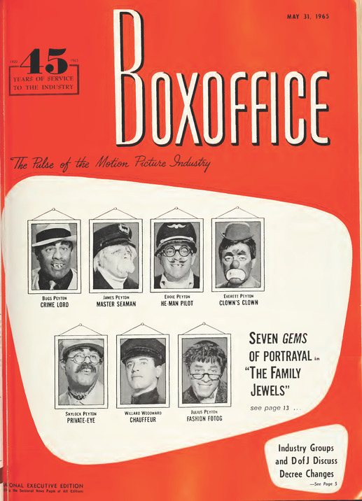 THE FAMILY JEWELS BOX OFFICE USA 1965