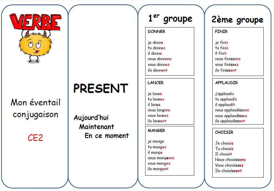 éventail mémo conjugaison CE2 - Chez Val 10