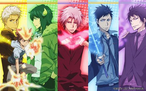 Tsuna, Ryôhei, Lambo, Gokudera, Yamamoto et Hibari