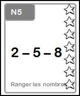 N5:  Ranger les  nombres