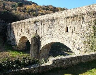 Pont-aqueduc sur l'Agly à Ansignan - PA00103951 - Monumentum