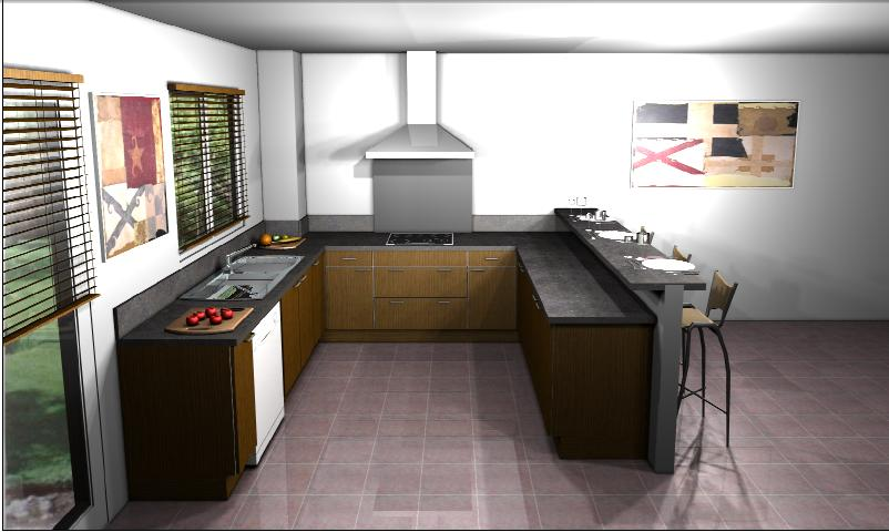 Conception cuisine 3d le chantier de bernard sandra for Conception cuisine