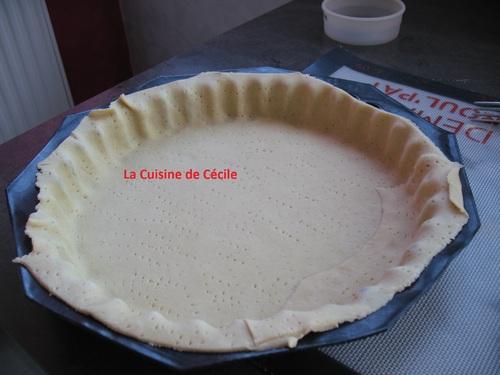 Tarte au fromage frais et ciboulette