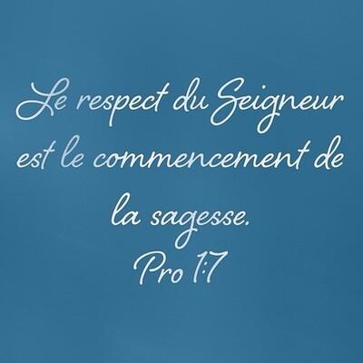 Proverbes - Lecture Biblique et Prière (1)