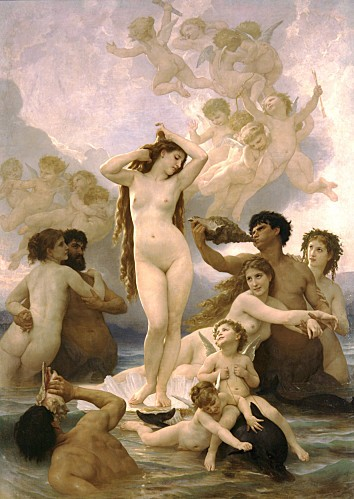 William-Adolphe Bouguereau (1825-1905) - The Birth of Venus