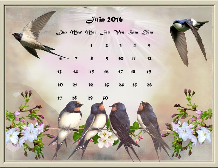 Calendriers de juin 2016