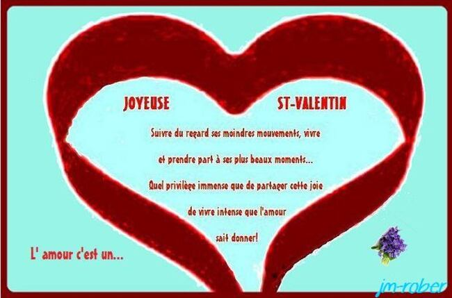 Saint Valentin ….Un weekend en amoureux