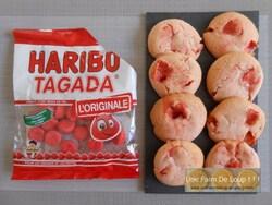 Minis cakes à la fraise Tagada