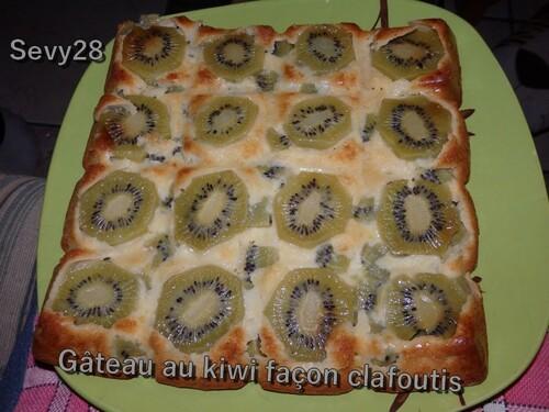 Gâteau au kiwi façon clafoutis (thermomix)