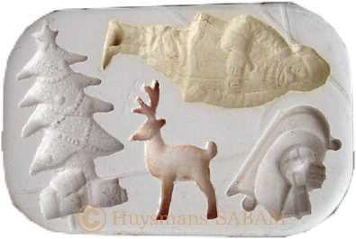 moule souple pour loisirs créatifs et artisanat d'art Noël Rétro - Arts et sculpture: sculpteur, mouleur d'art