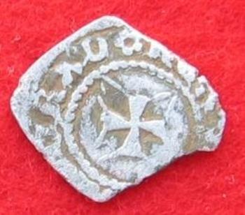 Monnaie en argent Charles VI revers.