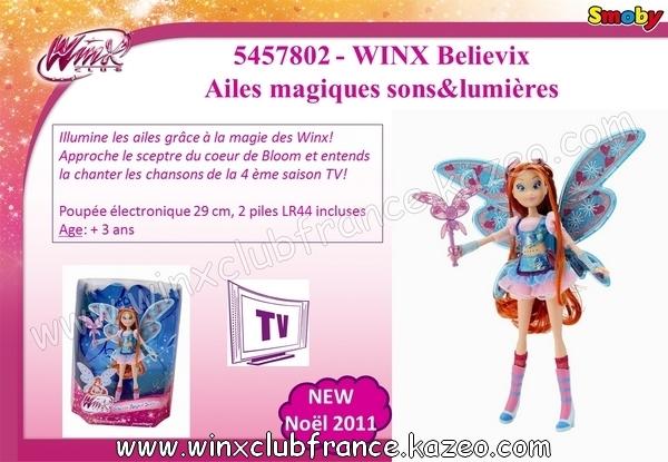 smoby 5 winx believix ailes magiques sons et lumieres