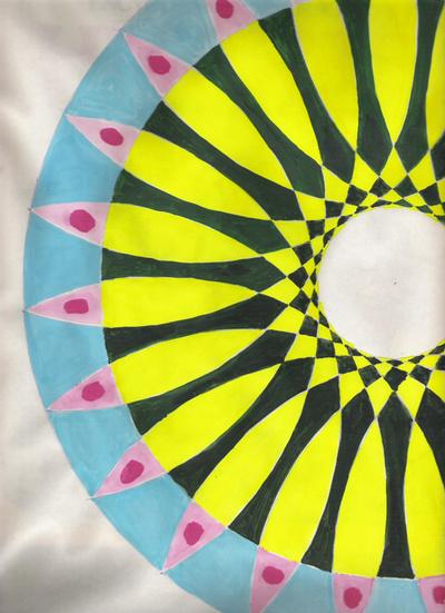 Blog de mimipalitaf :mimimickeydumont : mes mandalas au compas, gouache sur papier croquis