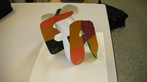 arts visuels : les lettres du prénom en 3D