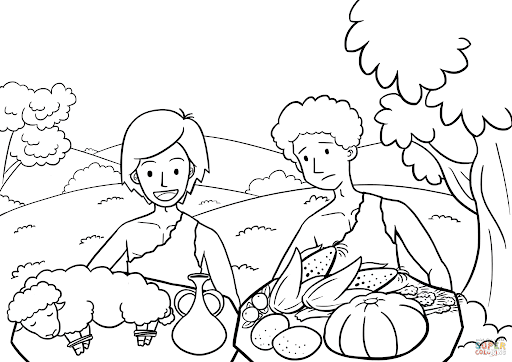 Cain and Abel the Way of Sacrifice coloring page | Free Printable Coloring  Pages