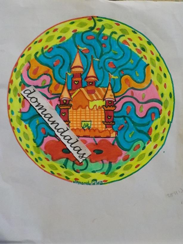 DOMANDALAS  mandala création personnelle du château 2eme essai