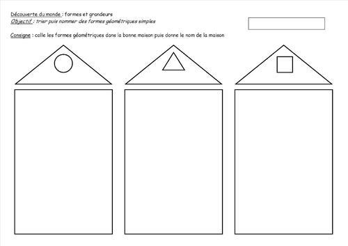 Formes et grandeurs : carré, rond, triangle