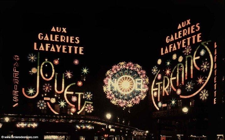 leon gimpel illumination noel paris magasin 04 Les autochromes parisiens de Léon Gimpel
