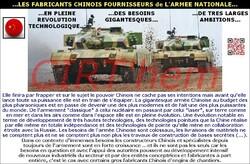 ...LES FABRICANTS CHINOIS FOURNISSEURS de L'ARMEE NATIONALE...