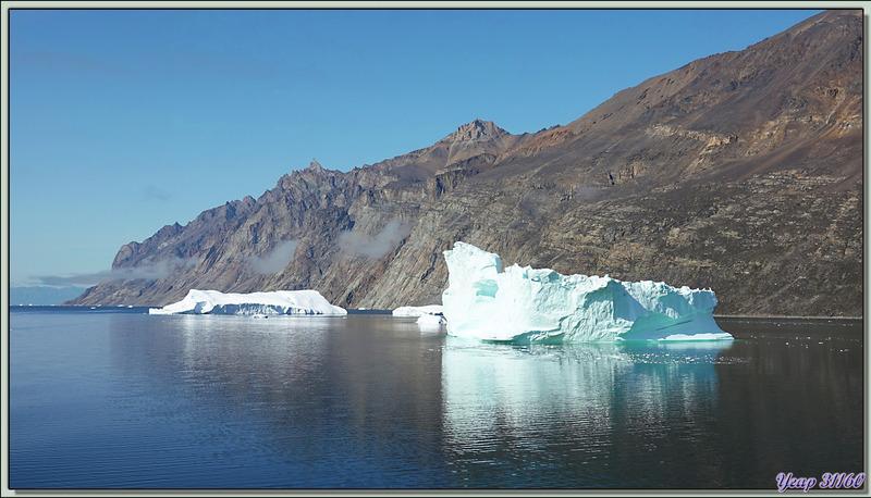 Métamorphose de l'iceberg au trou - Navigation entre Karrat Island et Illulissat - Upernivik Island - Groenland