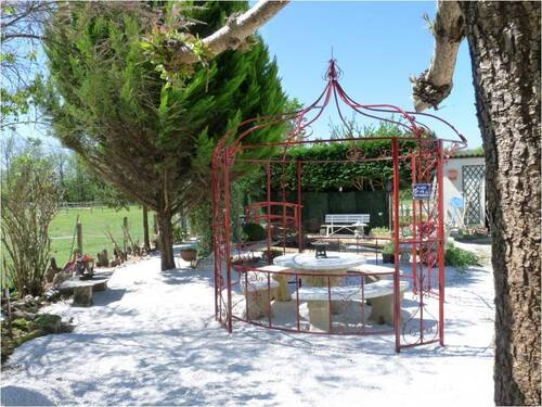 Notre côté jardin Zen.